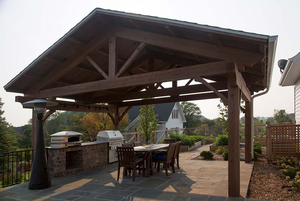 Bucks County Covered Outdoor Kitchen