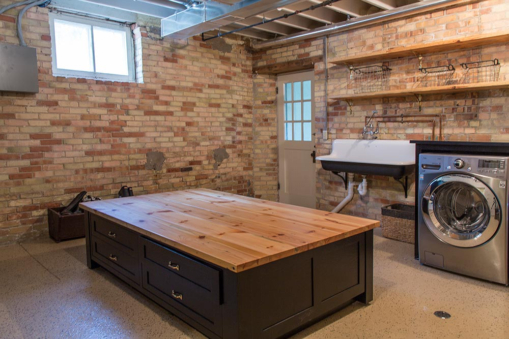 Historic Renovation Basement Laundry
