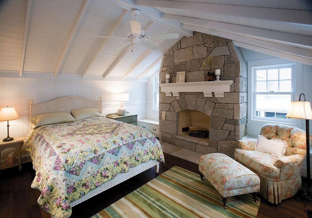 Manitowish Waters Bedroom with Fireplace