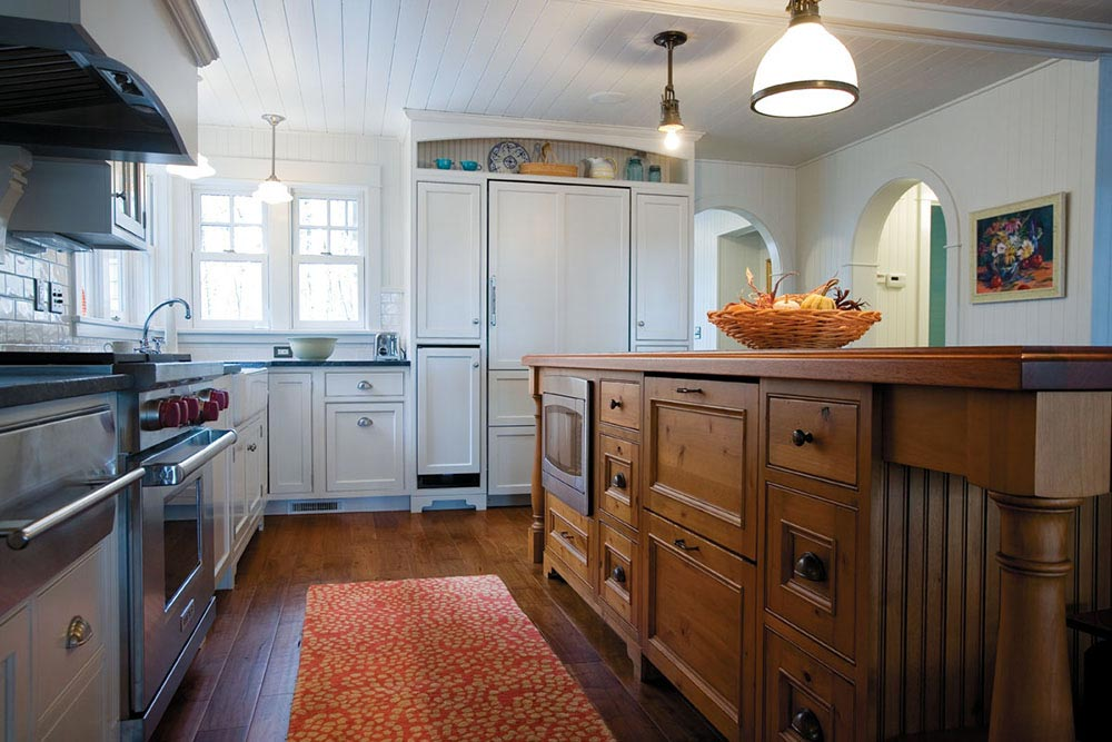 Manitowish Waters Kitchen Wood Island