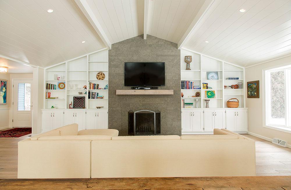 Beach House Renovation Living Room TV