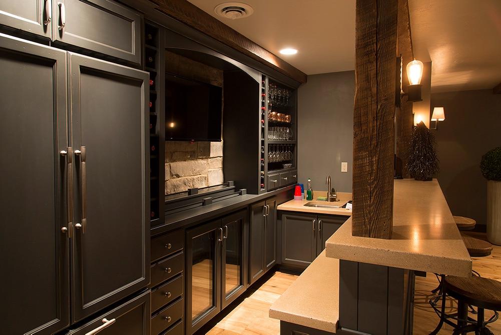 Cozy Lower Level Renovation Bar