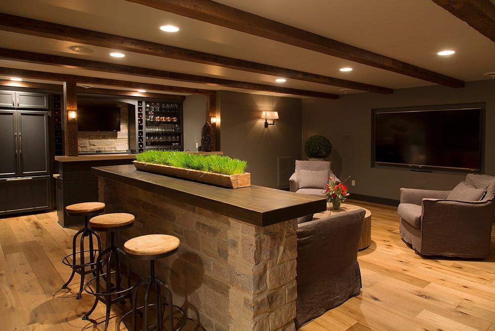 Cozy Lower Level Renovation Basement