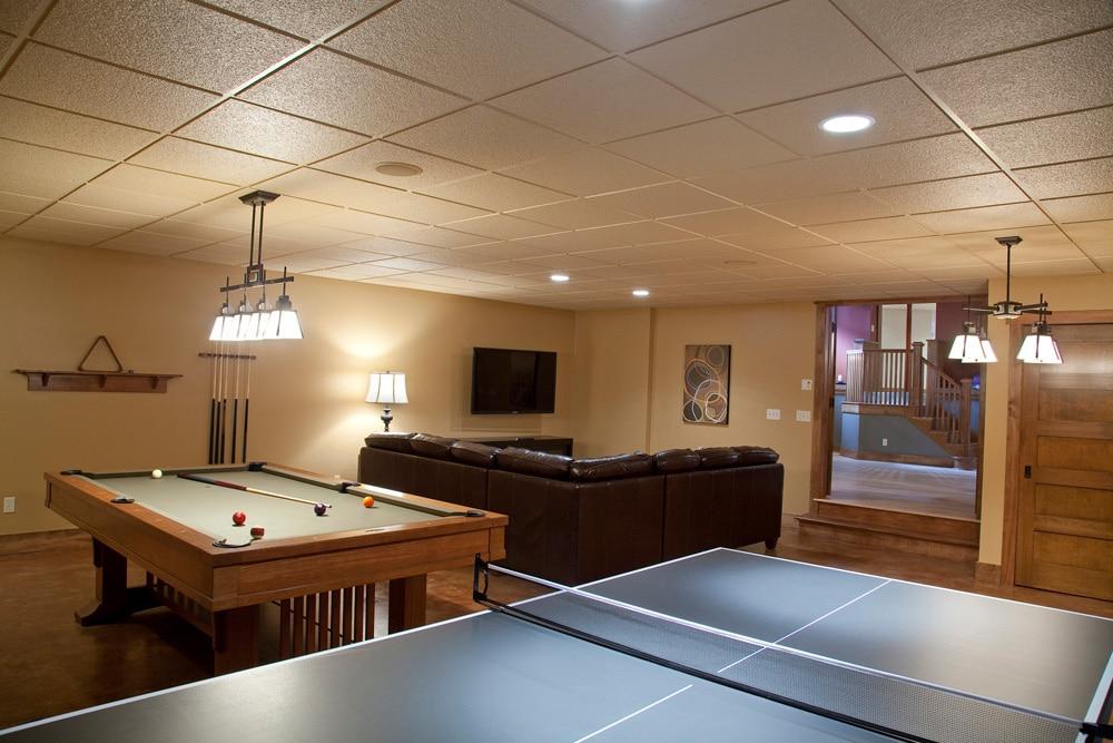 Historic Quincy Renovation Rec Room