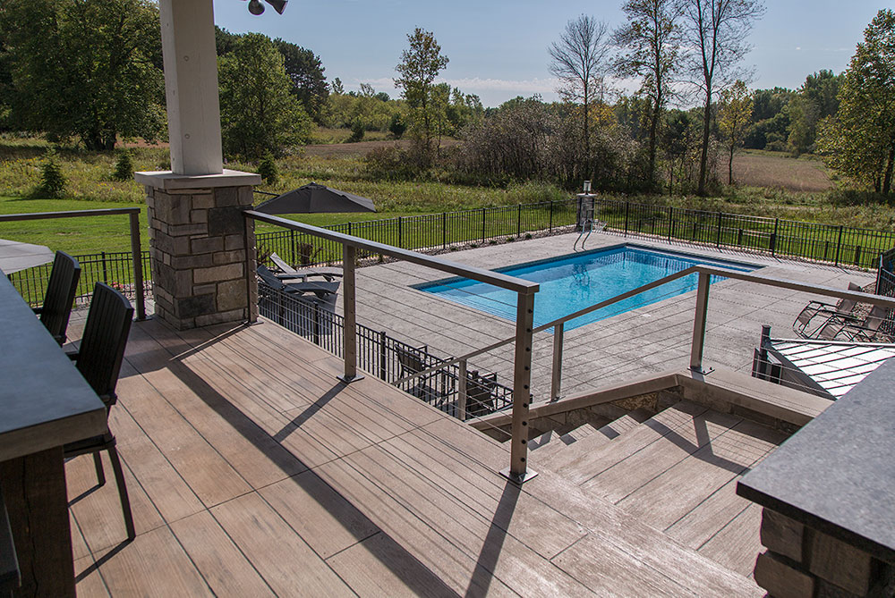 New Construction Copper Oaks Deck