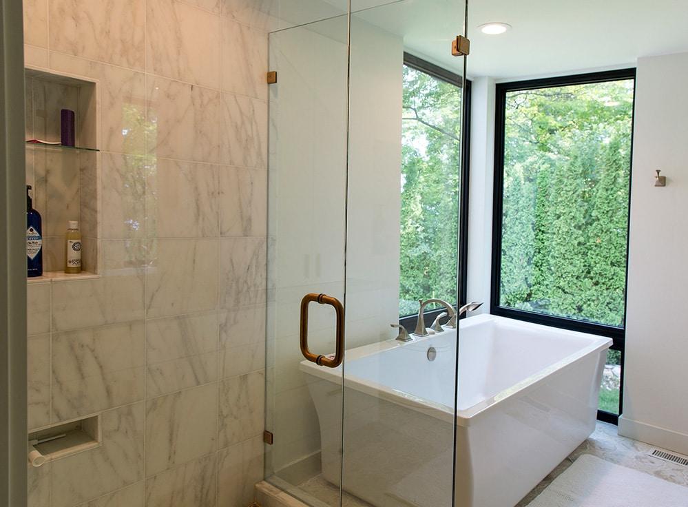 New Construction Door County Bathroom