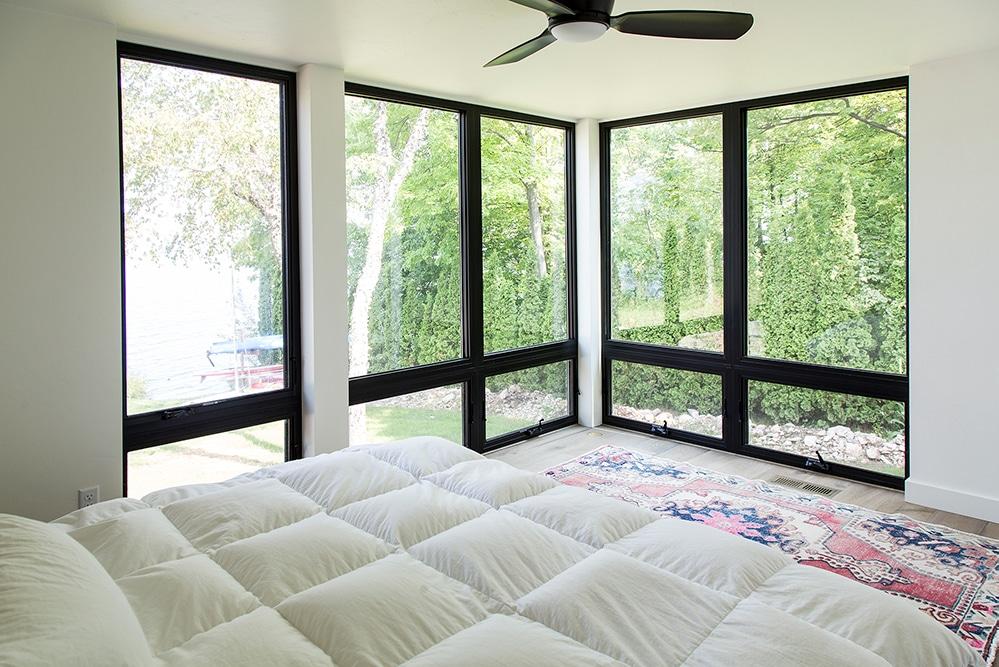 New Construction Door County Master Bedroom