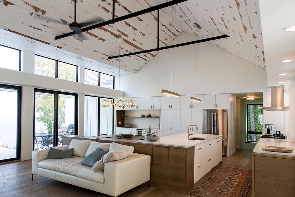 New Construction Door County Modern Living Room