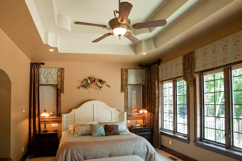 New Construction Italian English Blend Master Bedroom