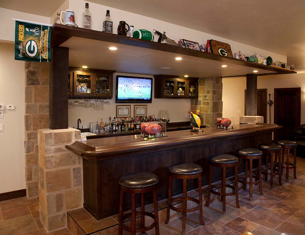 New Construction Italian English Blend Pub Room