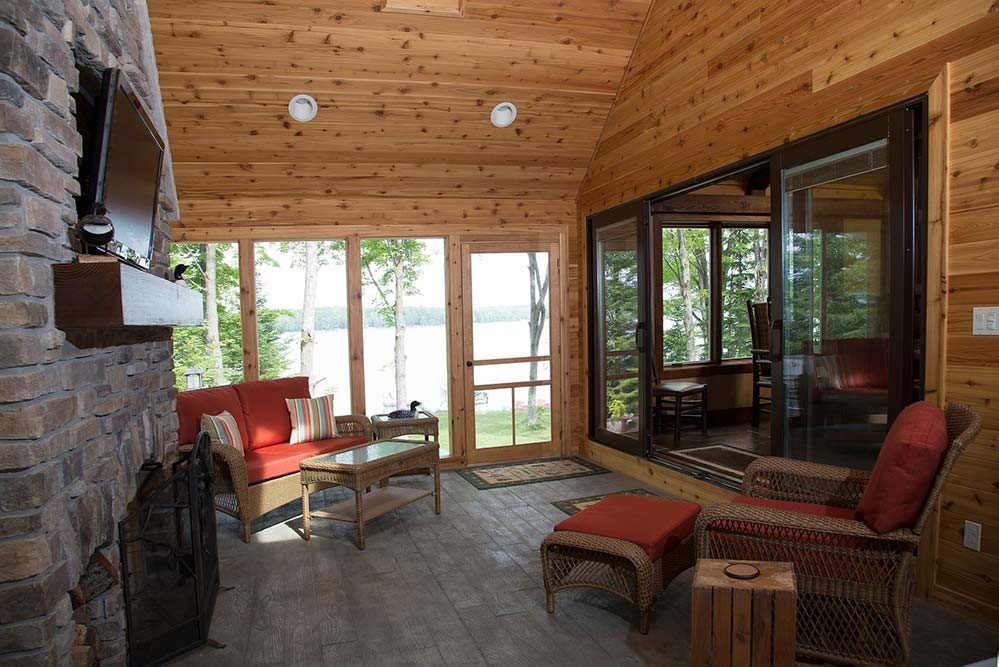 New Construction Lake Lucerne Retreat Sunroom