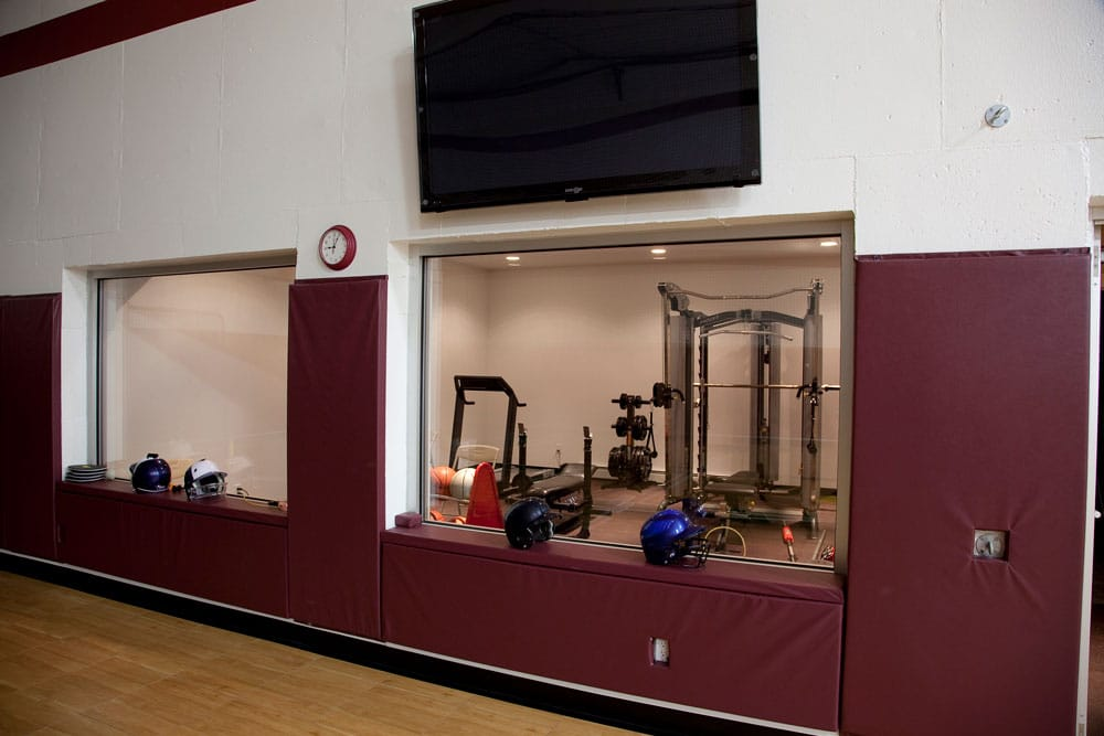 New Construction Quietly Modern Exercise Room