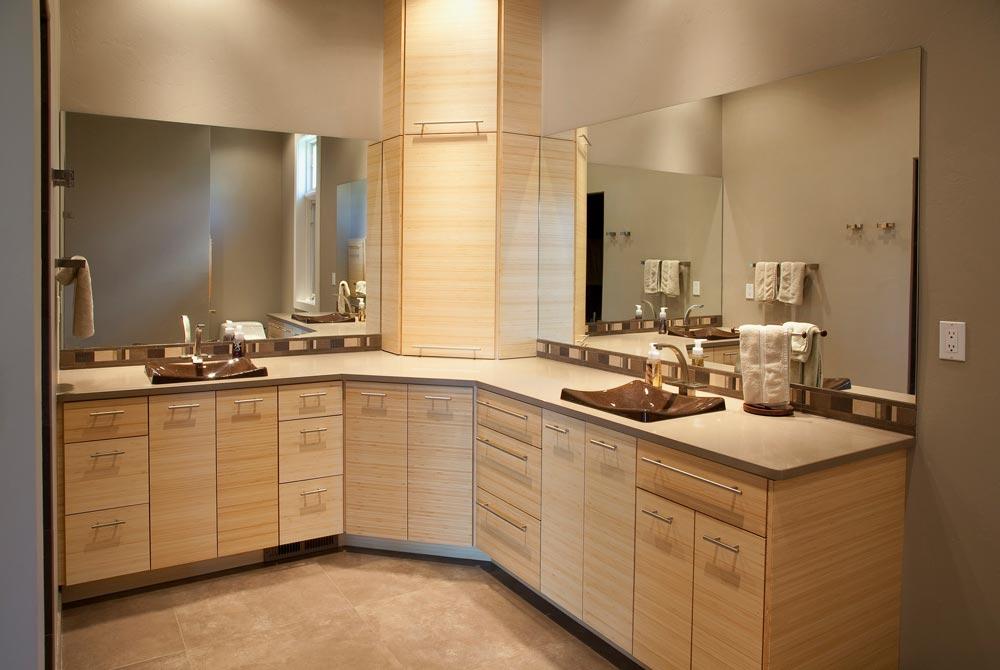 New Construction Quietly Modern Master Bathroom