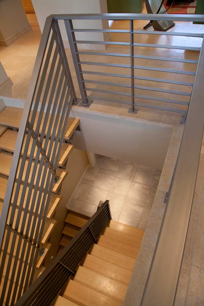 New Construction Quietly Modern Staircase