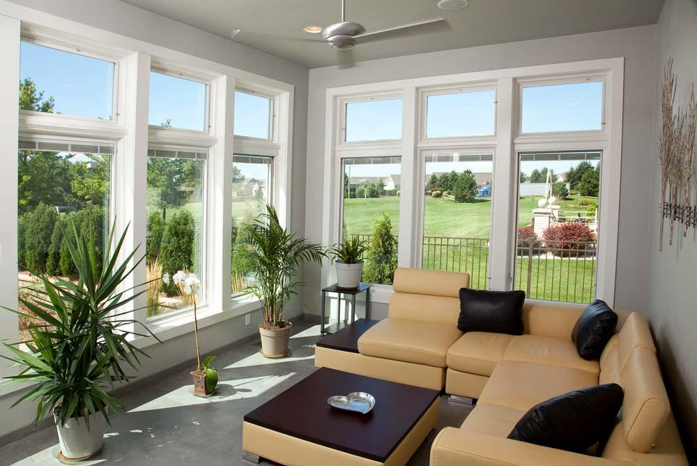New Construction Quietly Modern Sunroom