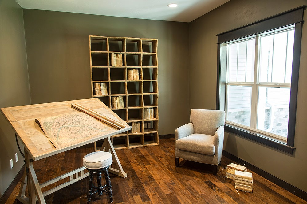 New Construction Transitional Story Den