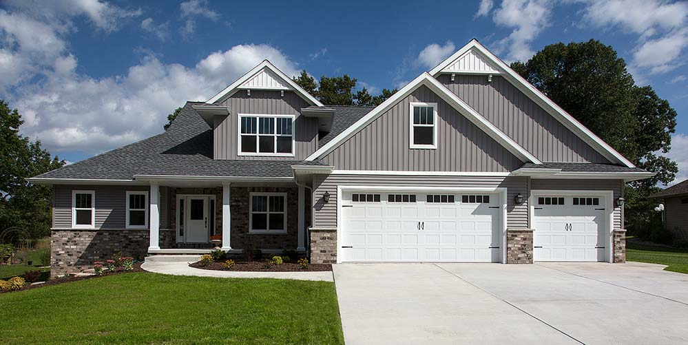 New Construction Transitional Story Exterior