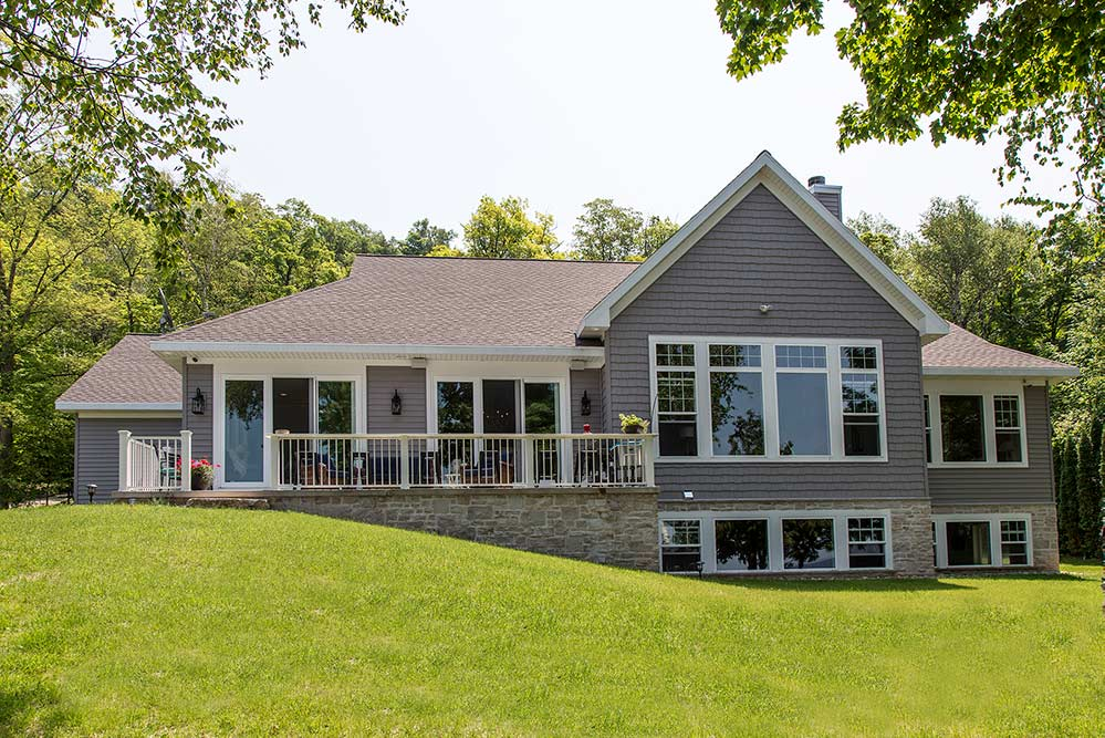 New Construction Whitecliff Cottage Exterior