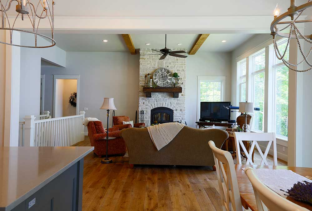 New Construction Whitecliff Cottage Living Room