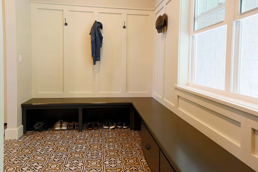 New Construction Whitecliff Cottage Mudroom