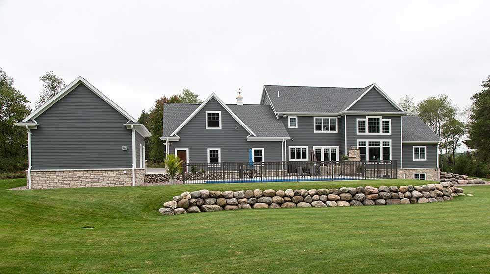 New Construction Northwoods Farmhouse Exterior 2