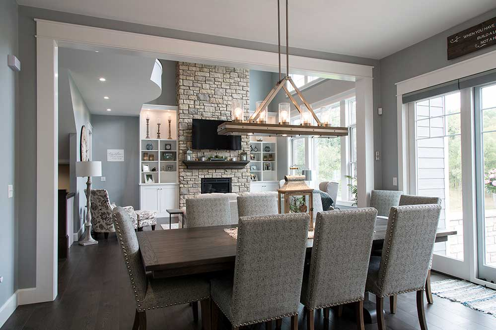 New Construction Northwoods Farmhouse Overall